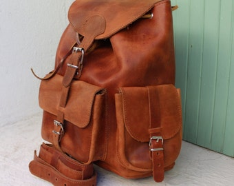 Leather Backpack, Weekender,Big Backpack,Backpack from genuine leather, Unisex leather bag,zaino , unisex backpack sac a dos cuir