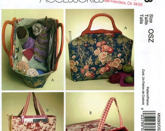 McCall's Fashion Accessories M5283 Sewing Patterns for Knitting Bags - Uncut