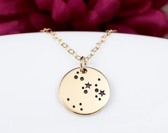 Gold Sagittarius Constellation Necklace | Sagittarius Jewelry | Sagittarius Necklace | Sagittarius Gift | Gift For Sagittarius