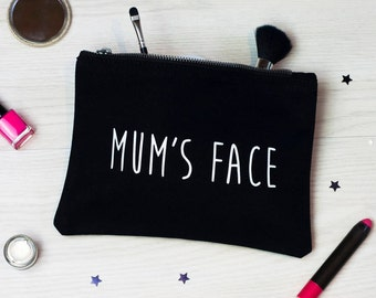 Make Up Bag | Mother's day | Gift | Cosmetic purse | Mum's Face | For Her | Birthday