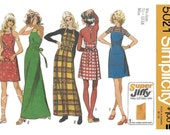 Simplicity 5021 Women's 70s Backwrap Dress Sewing Pattern Size 12 to 14 Bust 34 to 36