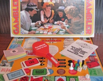 "Vintage 70's ""Gambler"" Board Game - 1975 - Parker Brothers - Game Night - Boardgame - 70's Game - 70's Board Game"