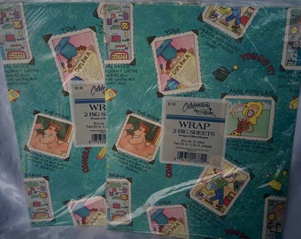Congratulations Gift Wrap, Vintage Gift Wrap, Vintage Wrapping Paper, Congratulations