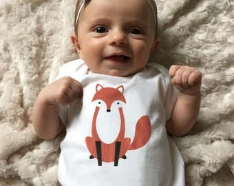 Fox baby clothes, Fox baby bodysuit, baby boy clothes, baby girl clothes, fox baby gift