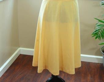Vintage Butter Yellow Skirt Knee Length Koret of California Skirt - M