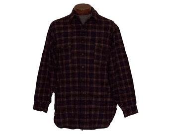 Vintage Pendleton Flannel Shirt Brown Wool Size XL