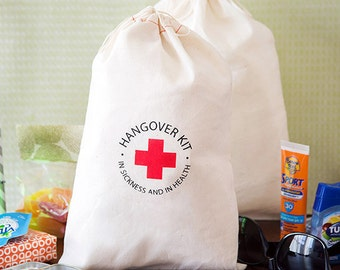 Hangover Kit Bags - Bachelorette Party Bags - In sickness and in health hangover kits - Large Hangover Kit Bags - Ready To Ship
