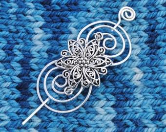 Flower Shawl Pin