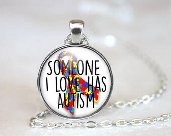 Autism Awareness Necklace - Autism Jewelry - Gift for Autism Mom - Autism Puzzle Piece - Autism Gifts - Autism Support - Autism Pendant