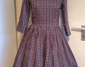SALE, cotton sateen/peter pan collar dress 'Pinwheel'