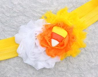 Candy corn headband - Halloween headband - Candy headband - Halloween candy headband - Baby girl Halloween headband - Fall headband