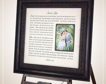 Wedding vows framed Etsy