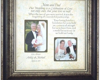 Parents of the Groom Gift, Parents Wedding Gift, 16 X 16