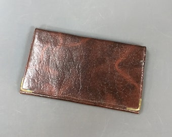 Vintage Brown Leather Wallet c.1970s