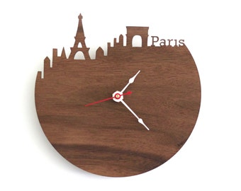 "Paris Clock - 7"" Walnut SAMPLE"