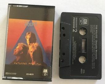 The Police - Zenyatta Mondatta - vintage cassette - new wave - reggae rock - post punk - english rock band - 1980 - Free shipping Canada USA