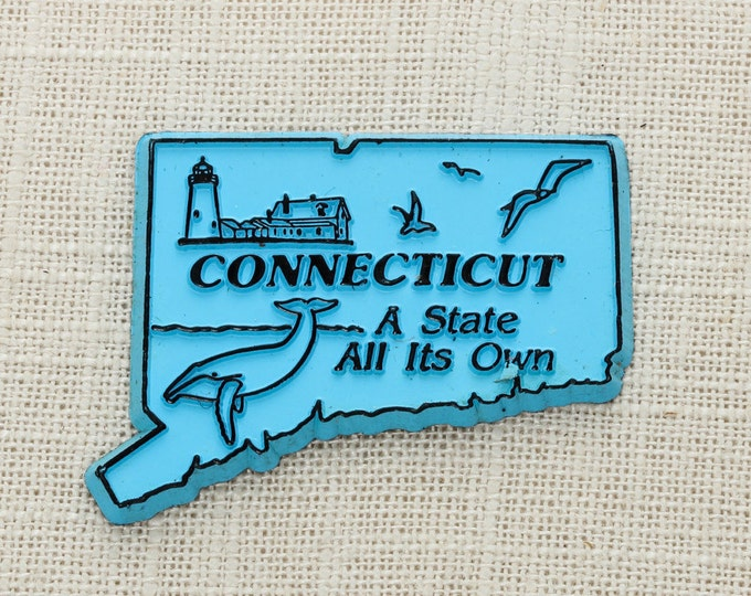 """Vintage Connecticut State Magnet Silhouette 