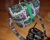 New-Camera bag-Digital SLR camera bag-Dslr camera case-purse-womens camera bag-Extra Bonus-Strap cover-360 OWLS