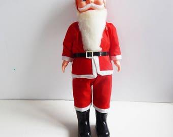 Vintage Santa - Made in Hong Kong - Large Vintage Santa - Mid Century Santa Claus - Vintage Christmas