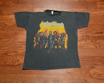 vintage Judas Priest tour shirt Fuel for Life tour t-shirt 1986 80s 1980 rock tee faded black vintage worn in XL extra large