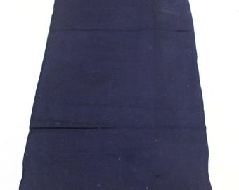 Japanese Indigo Cotton. Artisan Aizome Textile. Blue Vintage Folk Fabric (Ref: 1757A)