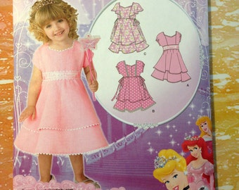 Simplicity 1922 Disney Princess Toddlers' Dress with Bodice and Trim Variations Sizes 1/2 to 4