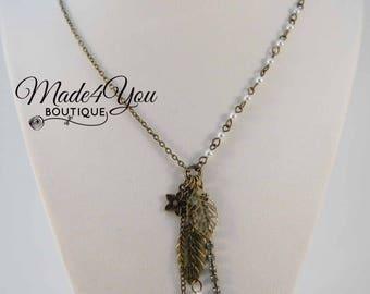 Summer Charm Necklace - Leaf Flower Long Necklace