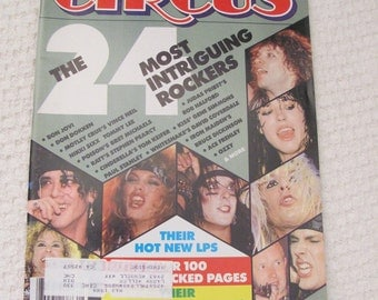 Vintage Circus Magazine August 31, 1987 Most Intriguing - Bret Michaels Poison Centerfold