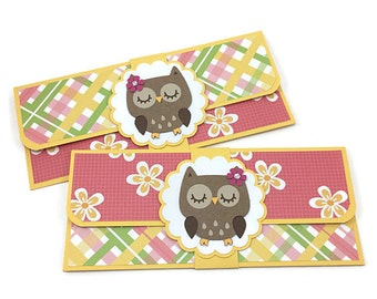 Cash envelope, money envelope, woodland owl envelope, birthday card, cheque holder, cash gift envelope, cash envelope system, budget system
