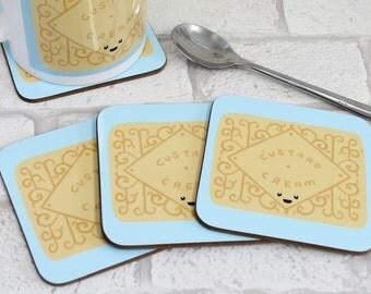 Classic Biscuit Coaster - Custard Cream Coaster