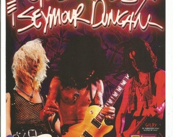 1993 Advertisement Guns N Roses Seymour Duncan Guitars Duff Slash Gilby Celebrity Guitarist Musician Studio Store Rock Music Wall Art Decor