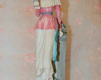 1920's Flapper Statuette Vintage Figurine Detailed Art Deco Lady Figurine Flapper Girl  Costumed 1920's Era Style