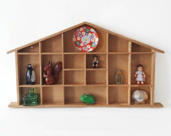 Big Vintage Wooden House Display Child Nursery Decor