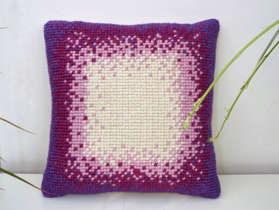 Embroidered Cushion, Cross Stitched Cushion, Home Decor, Mother Gift, Christmas Gift