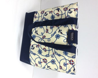 Nautical Fabric Tote Bag