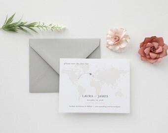 Traveler Wedding Save the Date - Sample
