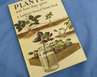 Vintage Ladybird Book - Plants and how they grow - Series 651 - 1968 Tally Number 210 - 2/6 - Matt Covers - A Natural History Book
