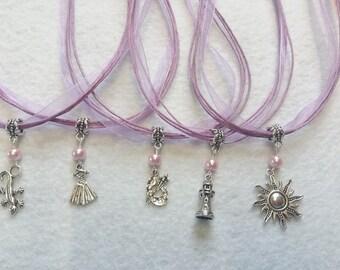 10 Rapunzel Necklace Party Favors.
