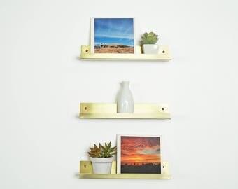 Littlefield Brass Picture Shelf Ledge