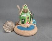 SWEET Handcrafted Miniature Beachside Fairy House OOAK by O'Dare