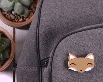 Fox Brooch - Fox Jewellery - Fox Gifts - Fox Lover Gift - Gold Fox - Stocking Fillers - Stocking Stuffer - Secret Santa Christmas Gift