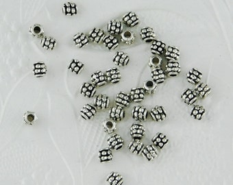 4mm Bumpy Spacer Beads 50 pieces Antiqued Silver Accent