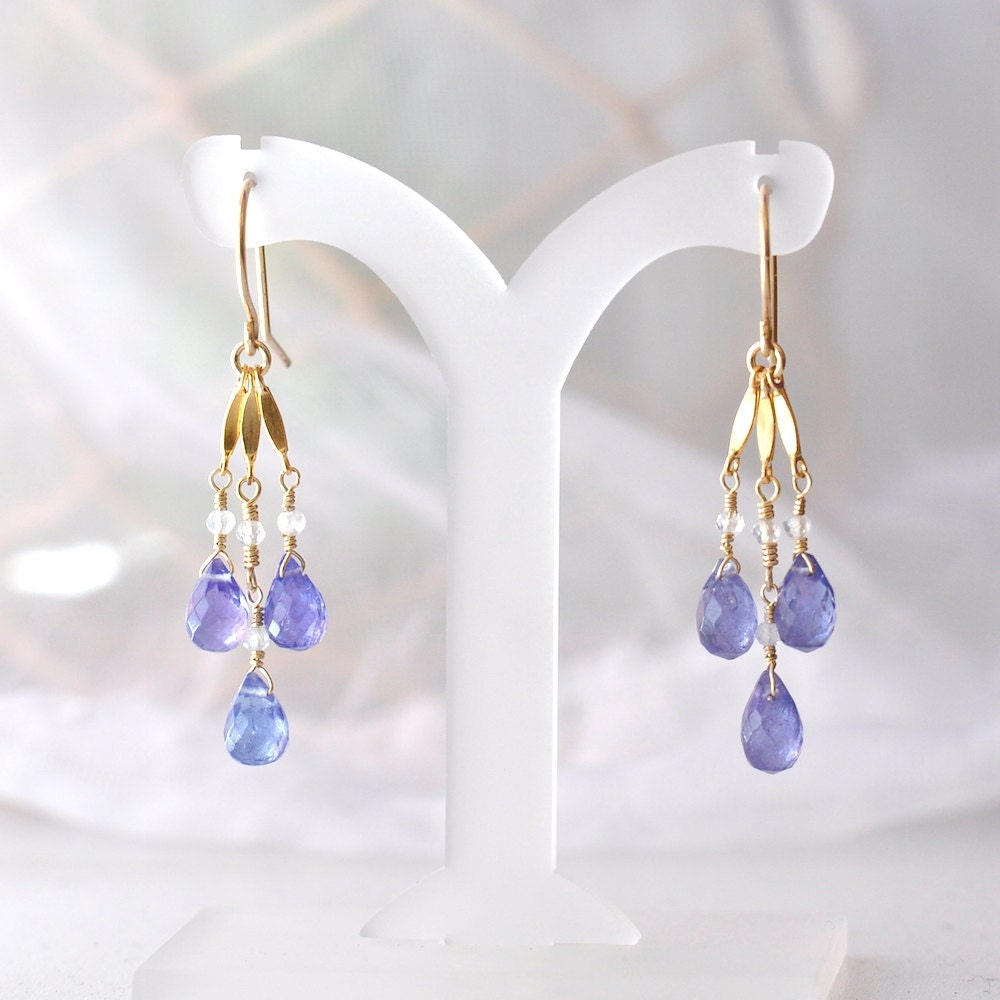 Tanzanite earrings, December Birthstone Earrings, Tanzanite ...