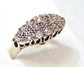 Sale! Antique Diamond Ring, Victorian Diamond Ring in 18K Gold, Antique Anniversary