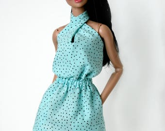 Blue Sundress for Barbie & Fashion Royalty Dolls