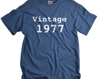 40th birthday gift for man- birthday shirt - Fortieth Party - Vintage 1977 t shirt for Men