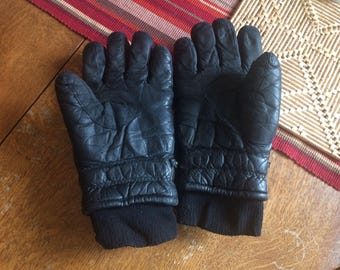 Vintage Conroy Insulated Leather Gloves L - Very Warm - Outdoorsman, Longshoreman