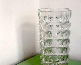 Elegant Glass Vase - Spage Age - Modernist