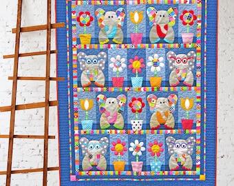 PATCHWORK ELEPHANTS | Quilt Patterns | PDF Pattern | Quilts | Elephant Quilt | Elephants | Applique Quilts | Happy Quilts | Kids Quilts