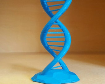 DNA Double Helix Science Gift 3D Printed SMALL version